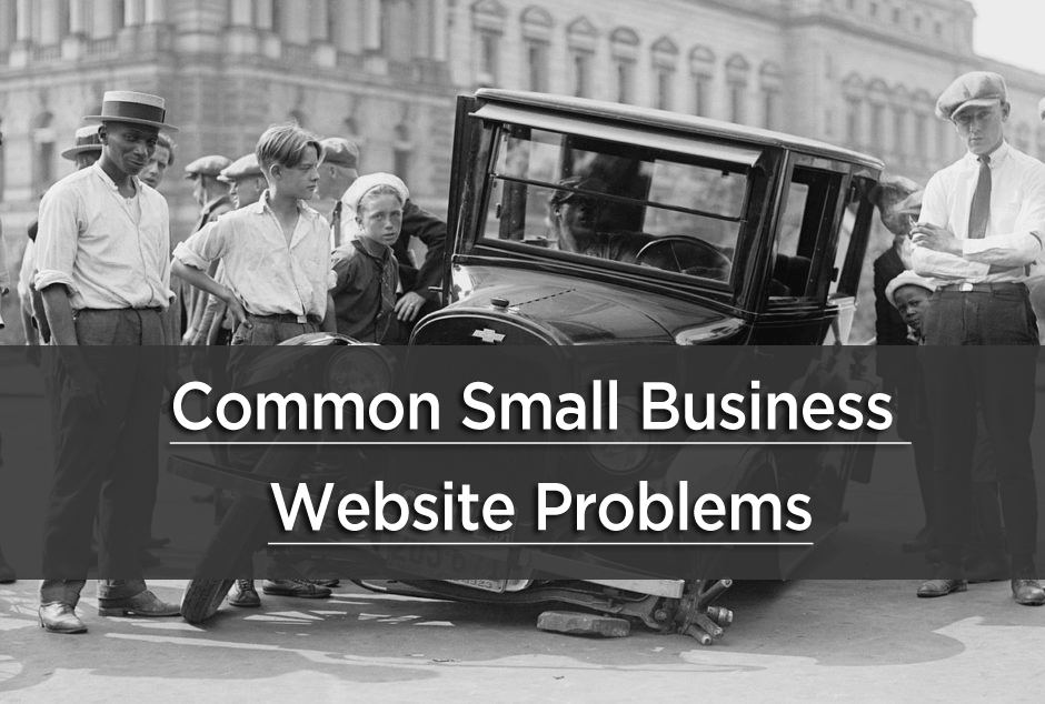 common small business website problems
