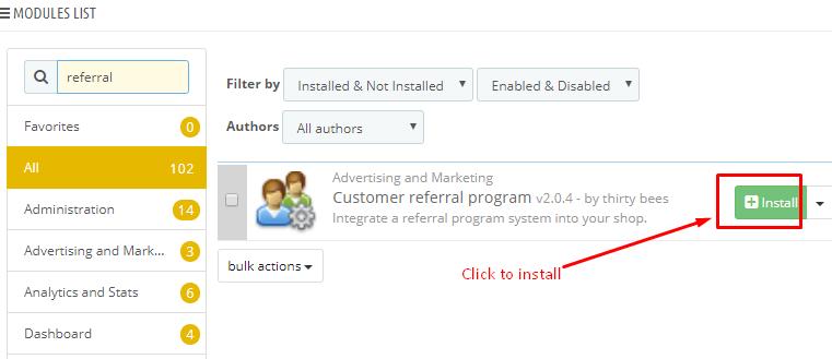 Install referral program
